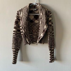Missoni brown oversized collar cardigan sweater
